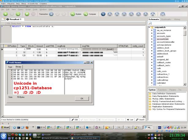 MySQL-Voipswitch-Unicode-in-cp1251-DB