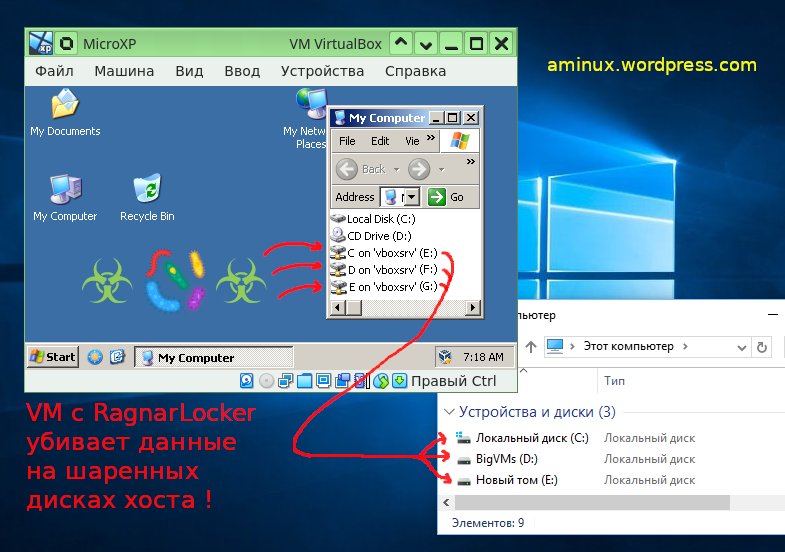 RagnarLocker from-VM Attack scheme